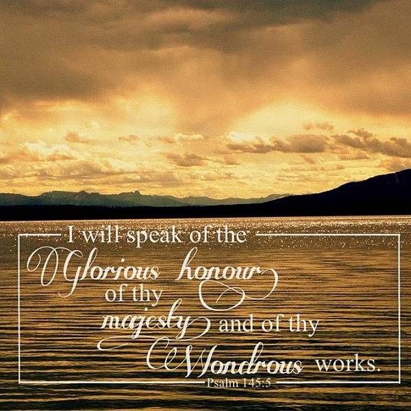 Wall Art - Photograph - i Will Speak Of The Glorious Honour by Traci Beeson