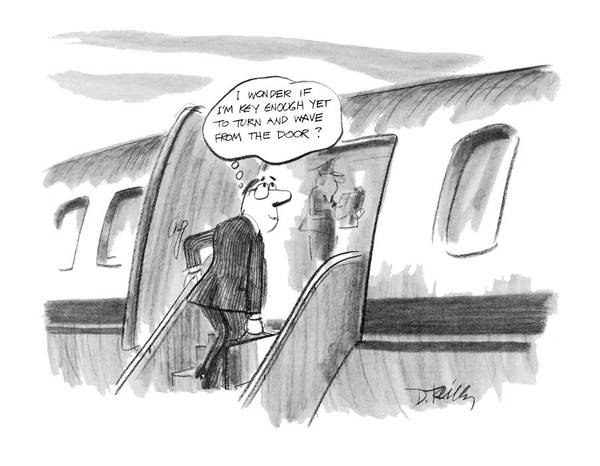 Plane Drawing - 'i Wonder If I'm Key Enough Yet To Turn And Wave by Donald Reilly