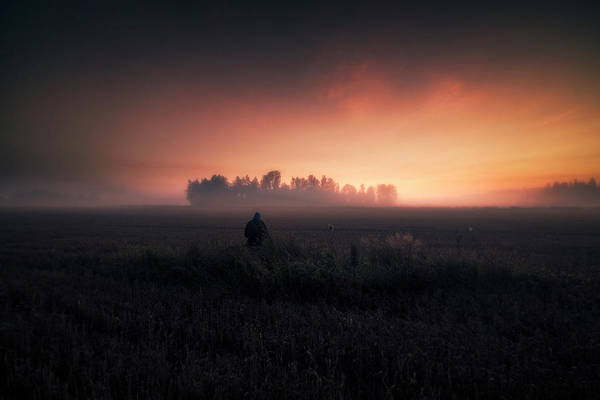 Misty Photograph - I Wonder The Meaning Of Life... by Mika Suutari