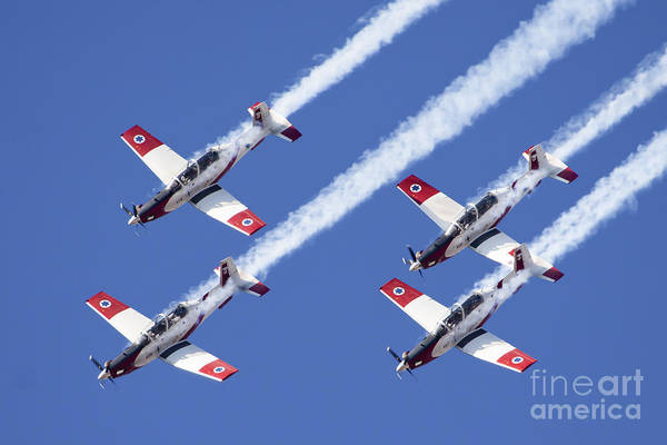 Aerobatics Wall Art - Photograph - Iaf Flight Academy Aerobatics Team 6 by Nir Ben-Yosef