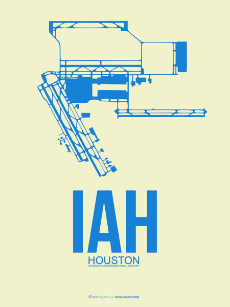 Aircraft Digital Art - Iah Houston Airport Poster 3 by Naxart Studio