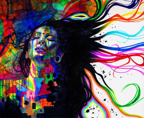 Wall Art - Drawing - Iamfree by Callie Fink