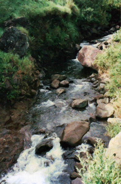 Painting - Rocky Stream In Iao Valley by Susan Schroeder