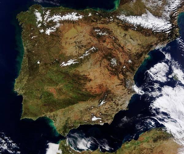 Iberian Peninsula Wall Art - Photograph - Iberian Peninsula by Nasa/science Photo Library