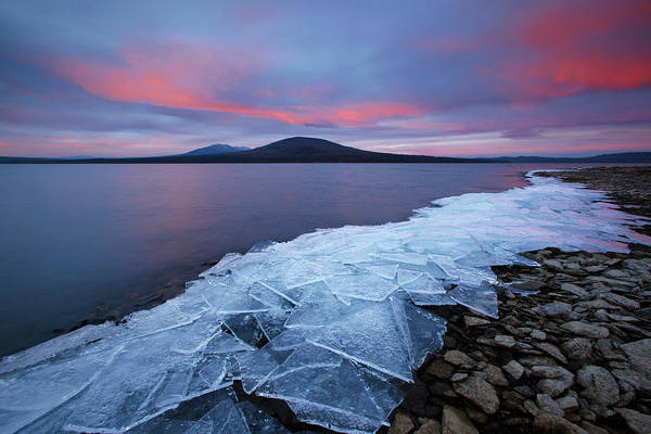 Lake Shore Wall Art - Photograph - Ice & Fire by Vadim Balakin