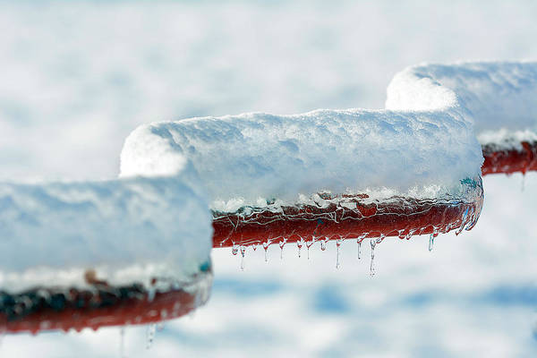 Photograph - Ice And Snow-5505 by Steve Somerville
