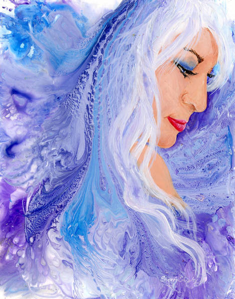 Painting - Ice Angel by Sherry Shipley