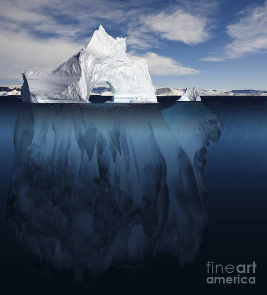 Photograph - Ice Arch Iceberg by Bryan and Cherry Alexander