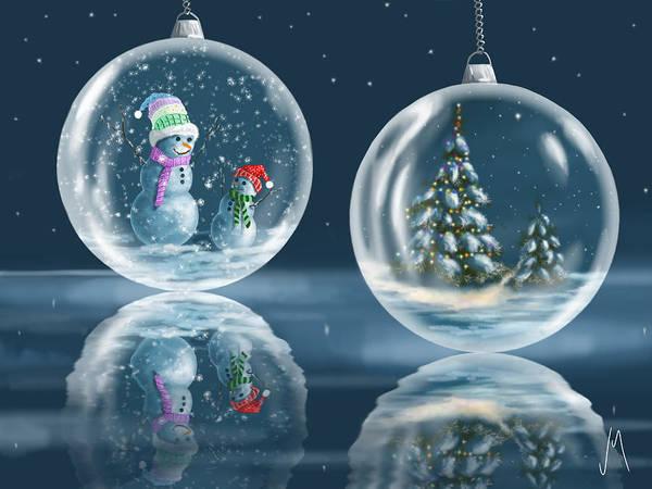 Christmas Decoration Wall Art - Painting - Ice Balls by Veronica Minozzi