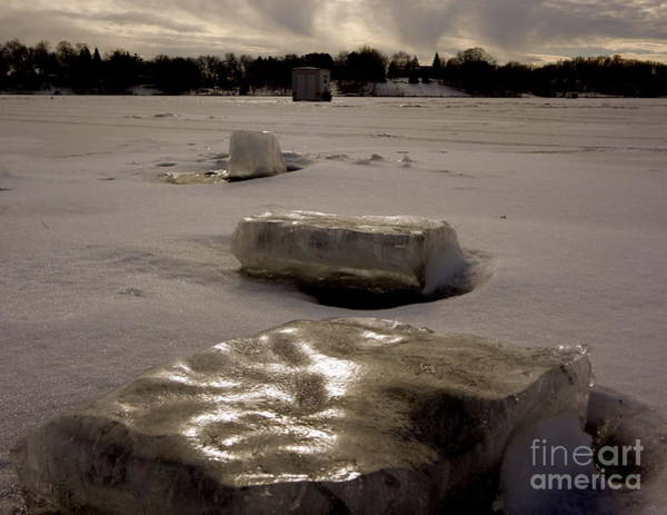 Photograph - Ice Blocks by Jacqueline Athmann