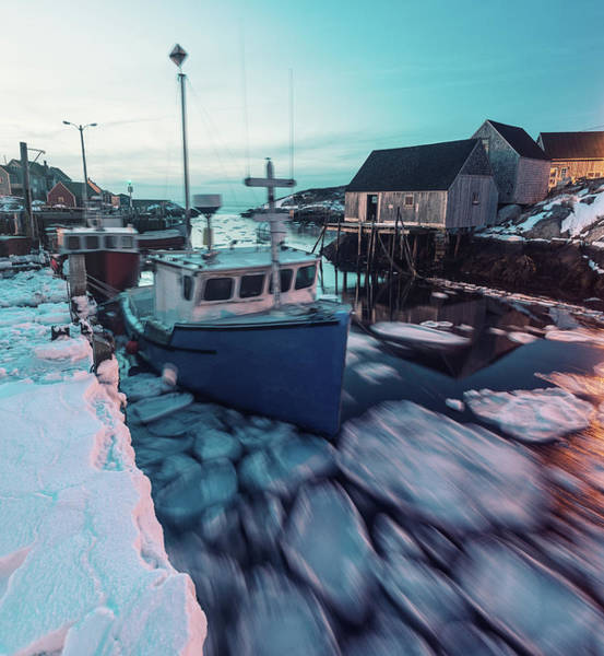 Maritime Provinces Photograph - Ice Cakes In Motion by Shaunl