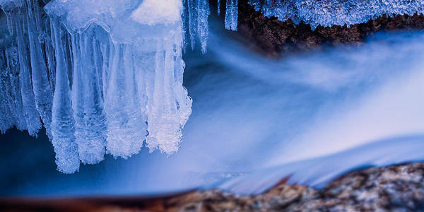 Photograph - Ice Chandelier by Jeff Sinon