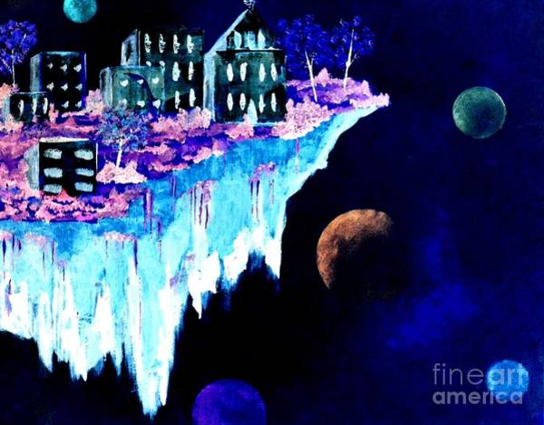 Painting - Ice City In Space by Denise Tomasura