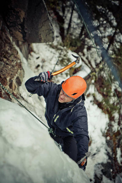 Wall Art - Photograph - Ice Climbing by Christopher Kimmel