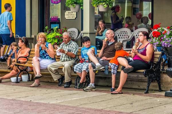 Bolton Photograph - Ice Cream Eaters...an Observation by Steve Harrington