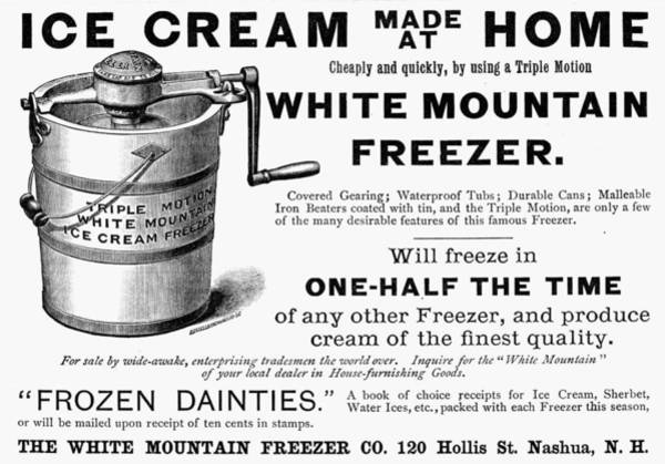 Painting - Ice Cream Freezer, 1889 by Granger