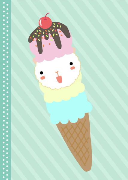 Chiang Mai Province Digital Art - Ice Cream by Littlebirth