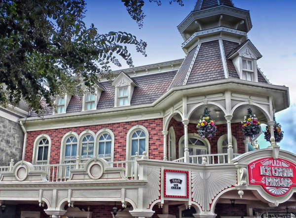 Adventureland Photograph - Ice Cream Parlor Main Street Walt Disney World by Thomas Woolworth