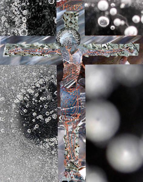 Mlk Digital Art - Ice Crucifxion by JG Whitney