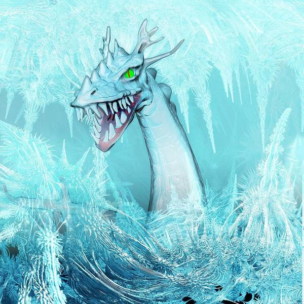Mythical Photograph - Ice Dragon by Carol & Mike Werner