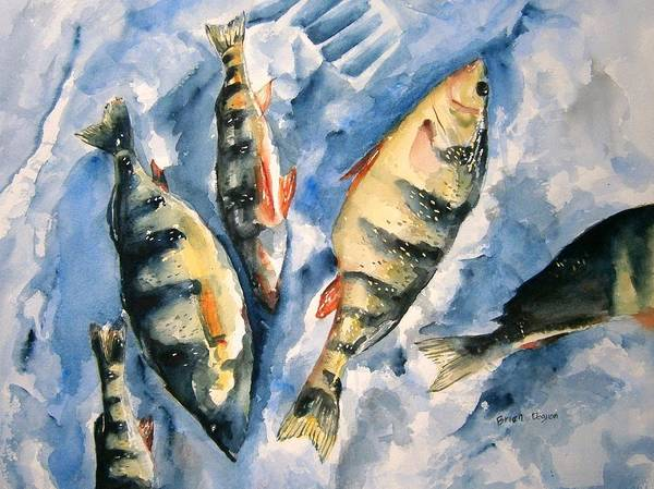 Wall Art - Painting - Ice Fishing For Perch by Brian Degnon