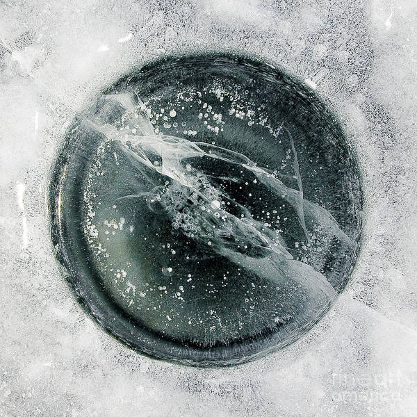 Photograph - Ice Fishing Hole 8 by Steven Ralser