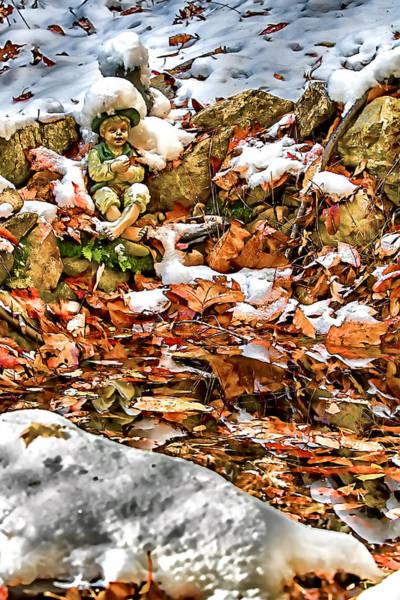 Asheville Mixed Media - Ice Fishing Leprechaun by John Haldane