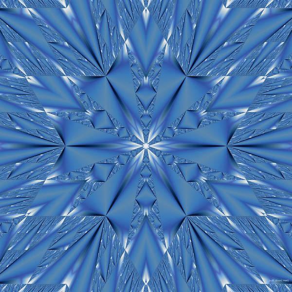 Digital Art - Ice Flower Fractal by Judi Suni Hall