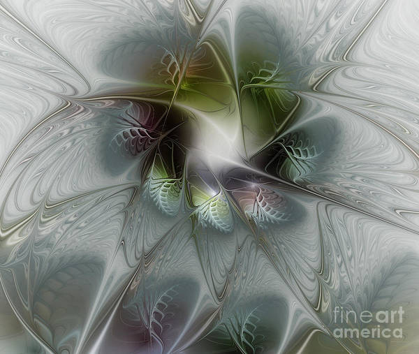 Translucent Digital Art - Ice Flower by Karin Kuhlmann