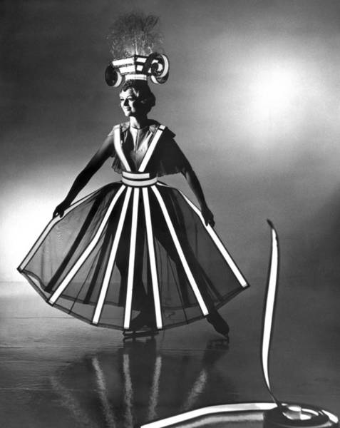 Adorn Photograph - Ice Follies Lighting Costumes by Underwood Archives