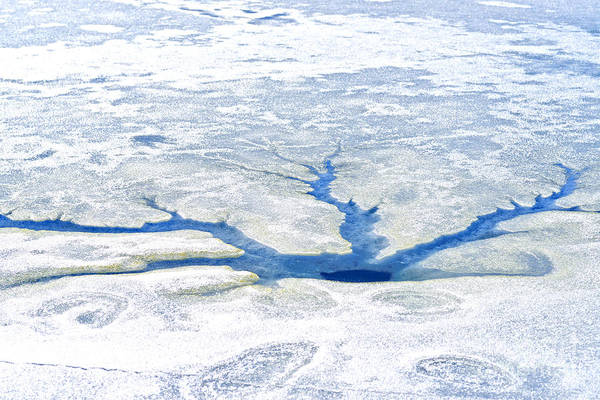 Photograph - Ice Fracture by Thomas R Fletcher