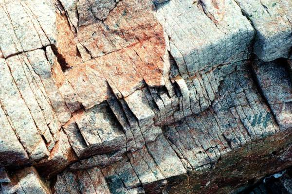 Wall Art - Photograph - Ice Fractured Rock by Louise Murray/science Photo Library