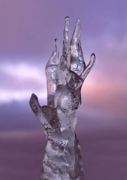Photograph - Ice Hand Reaching Out by Dreamland Media