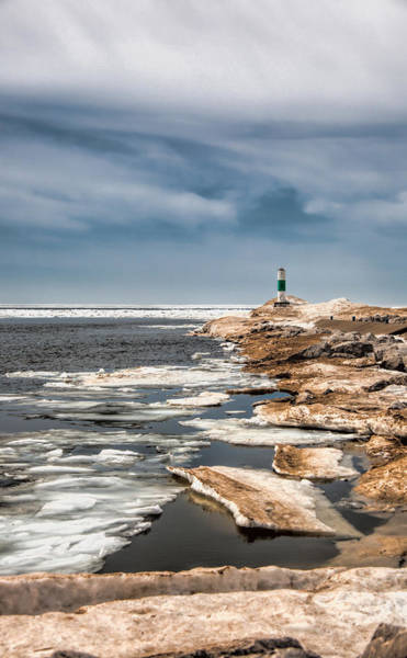 Holland State Park Photograph - Ice Light by John Crothers