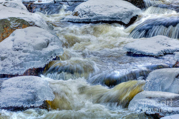 Photograph - Ice On Card Mill Stream by Susan Cole Kelly