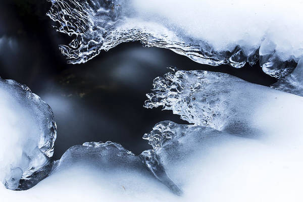 Photograph - Ice Over Stream Bavarian Forest Germany by Heike Odermatt