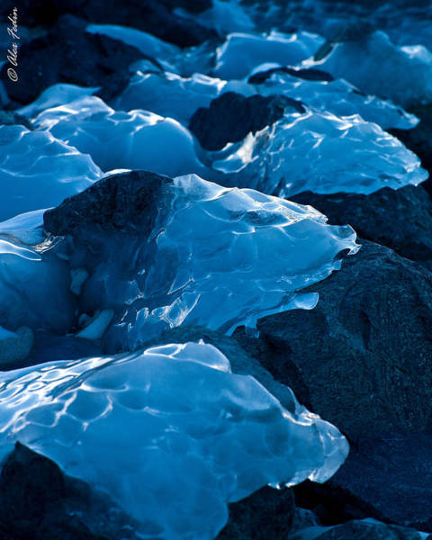 Photograph - Ice Patches by Alexander Fedin