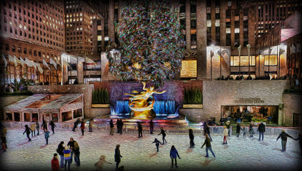 Wall Art - Photograph - Ice Rink At Rockefeller Center by Lee Dos Santos
