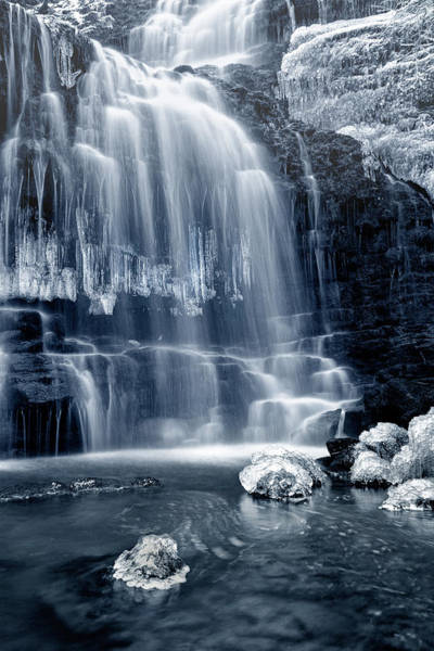 Wall Art - Photograph - Ice Rocks At Scaleber Force Falls by Chris Frost