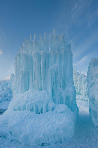 Midway Photograph - Ice Sculptures At Zermatt Resort by Howie Garber