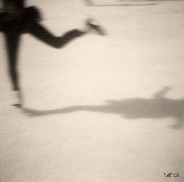 Monochrome Photograph - Ice Skater by Beverly Brown