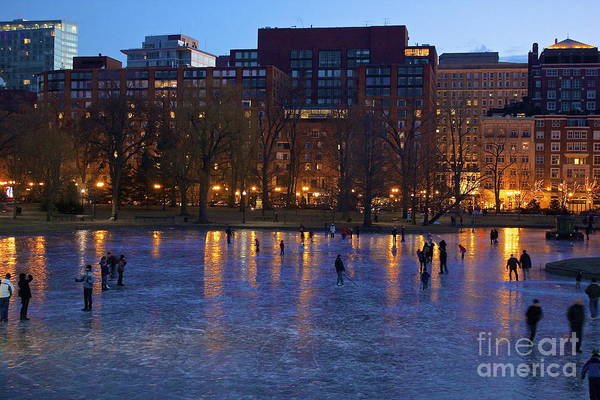 Photograph - Ice Skating On Boston Common by Amazing Jules