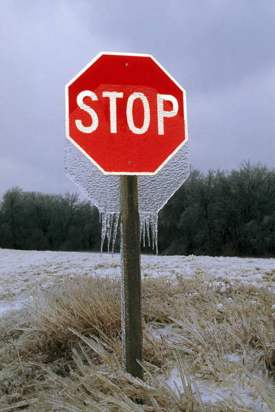 Notice Photograph - Ice Storm Phenomenon by Jim Reed/science Photo Library