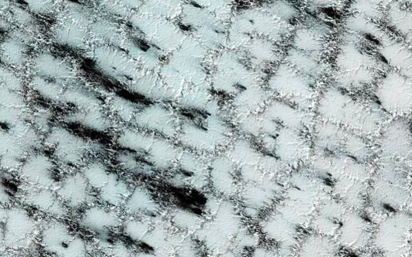 Deposit Photograph - Ice Sublimation On Mars by Nasa/jpl-caltech/university Of Arizona