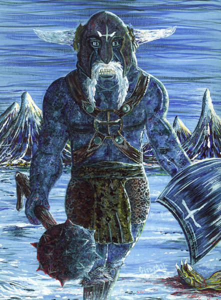 Painting - Ice Viking by Jason Girard