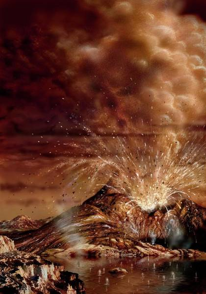 Wall Art - Photograph - Ice Volcano Eruption On Titan by David A. Hardy/science Photo Library