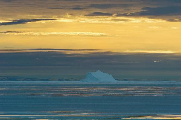 Ice Floe Photograph - Iceberg And Melting Sea Ice by Louise Murray/science Photo Library