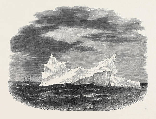 Wall Art - Drawing - Iceberg Passed By The Ship Northumberland by English School