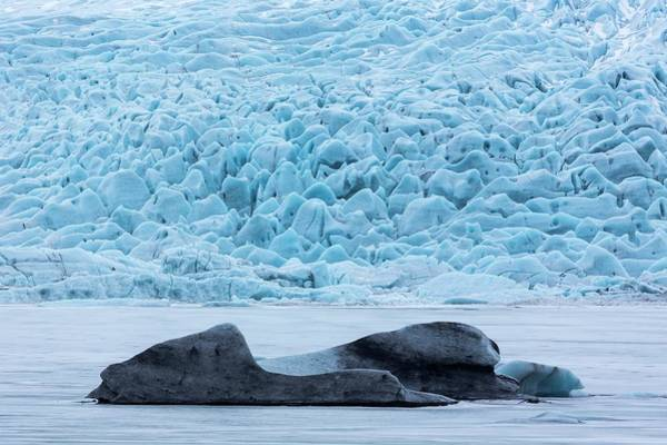 Crevasses Photograph - Icebergs In Glacial Lake by Dr Juerg Alean