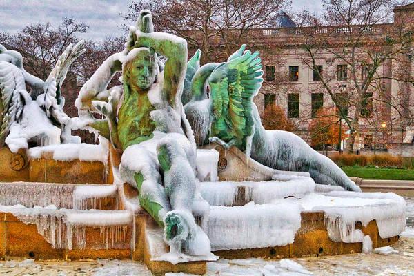 Photograph - Iced Swann Fountain by Alice Gipson